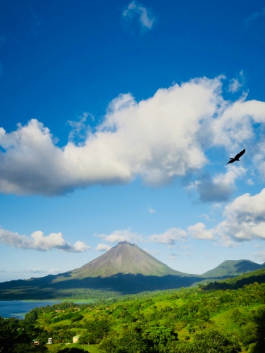 Arenal Volcano on a rare, clear day